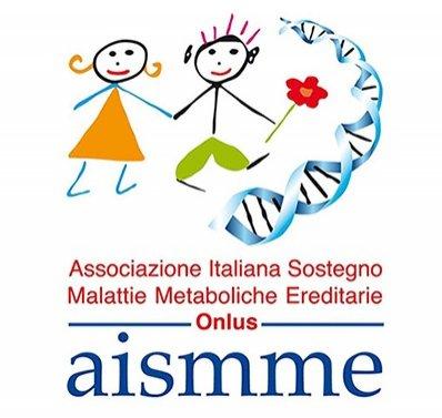 Il logo dell'AISMME (Associazione Italiana Sostegno Malattie Metaboliche Ereditarie)